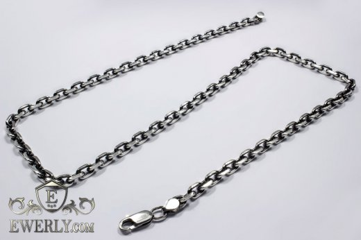 "Men's chain ""Anchor with edges"" of  silver to buy 111006GV"