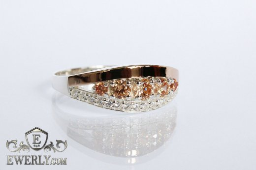 Ring of sterling silver with stones for women to buy 0013EQ