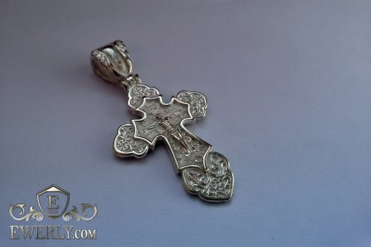 Cross of sterling silver with crucifix to buy 08398ZJ