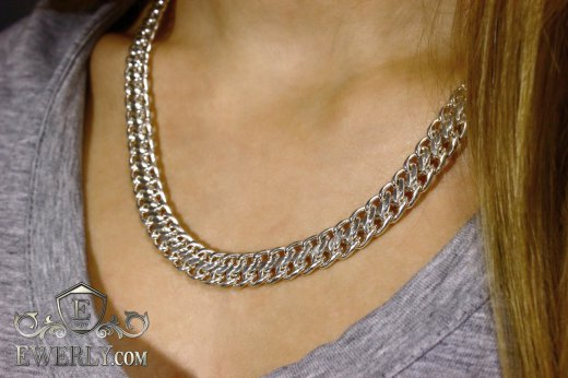 "Women's chain ""Ten (double carapace)"" of  silver to buy 111010BR"