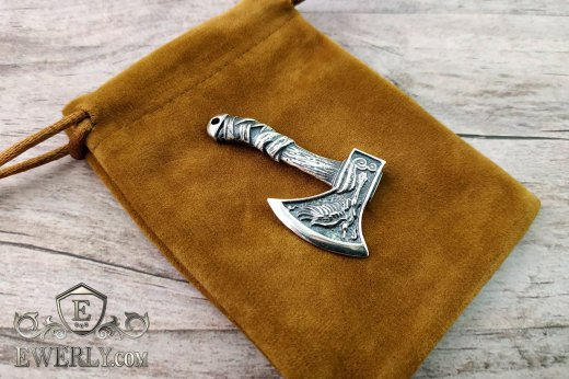 Big men's pendant of sterling silver to buy 131021LI