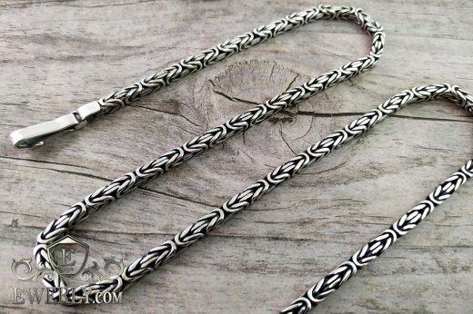 "Chain ""Byzantine (Byzantium)"" of sterling silver for men to buy 111011FF"