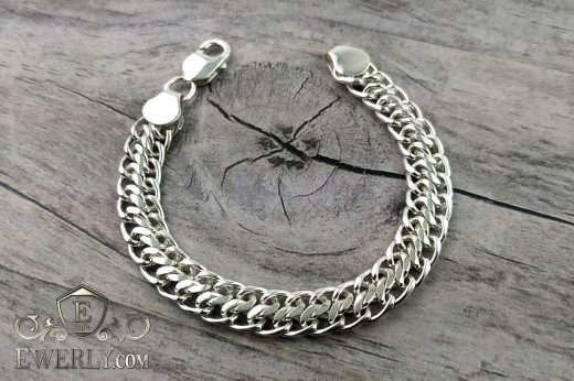 "Bracelet ""Ten (double carapace)"" of sterling silver to buy 121010EY"