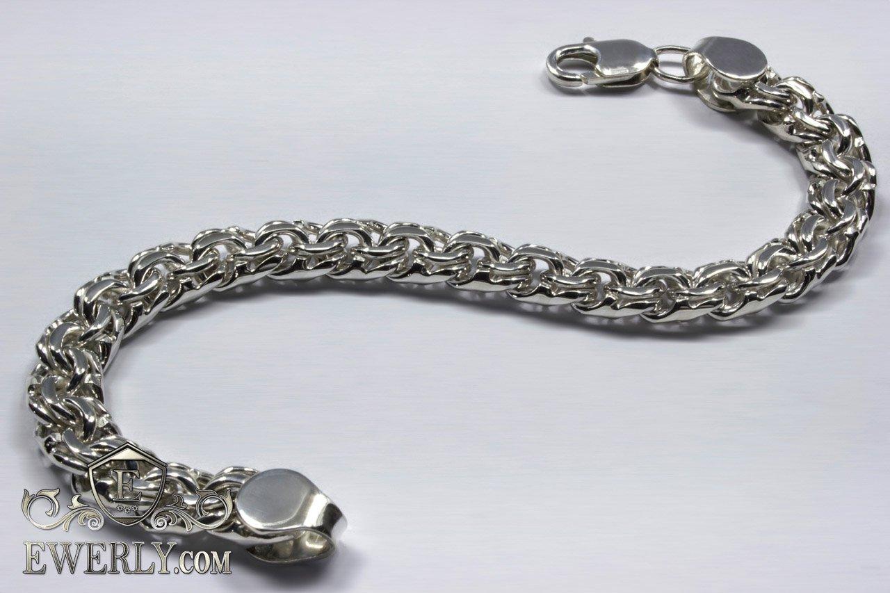 d09e9d532dda Серебряный браслет Бисмарк мужской и женский купить, серебро 925 пробы. •  Видео в HD качестве •