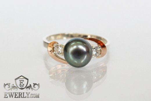 Women's ring of sterling silver with stones to buy 0035DY