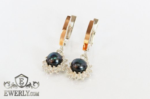 Earring of sterling silvers to buy 0034IZ