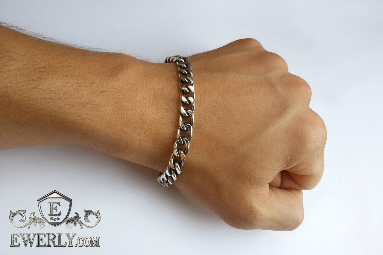 86570df262f9 Панцирь - мужской серебряный браслет (панцирное плетение), купить в Москве,  Киеве.