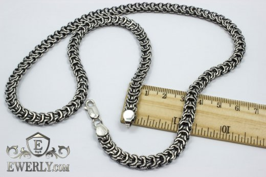 "Chain ""Ramses"" of sterling silver for men to buy 111000JU"