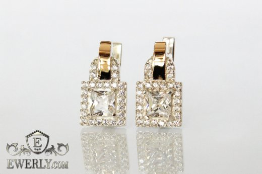 Earring of sterling silvers to buy 0018WH