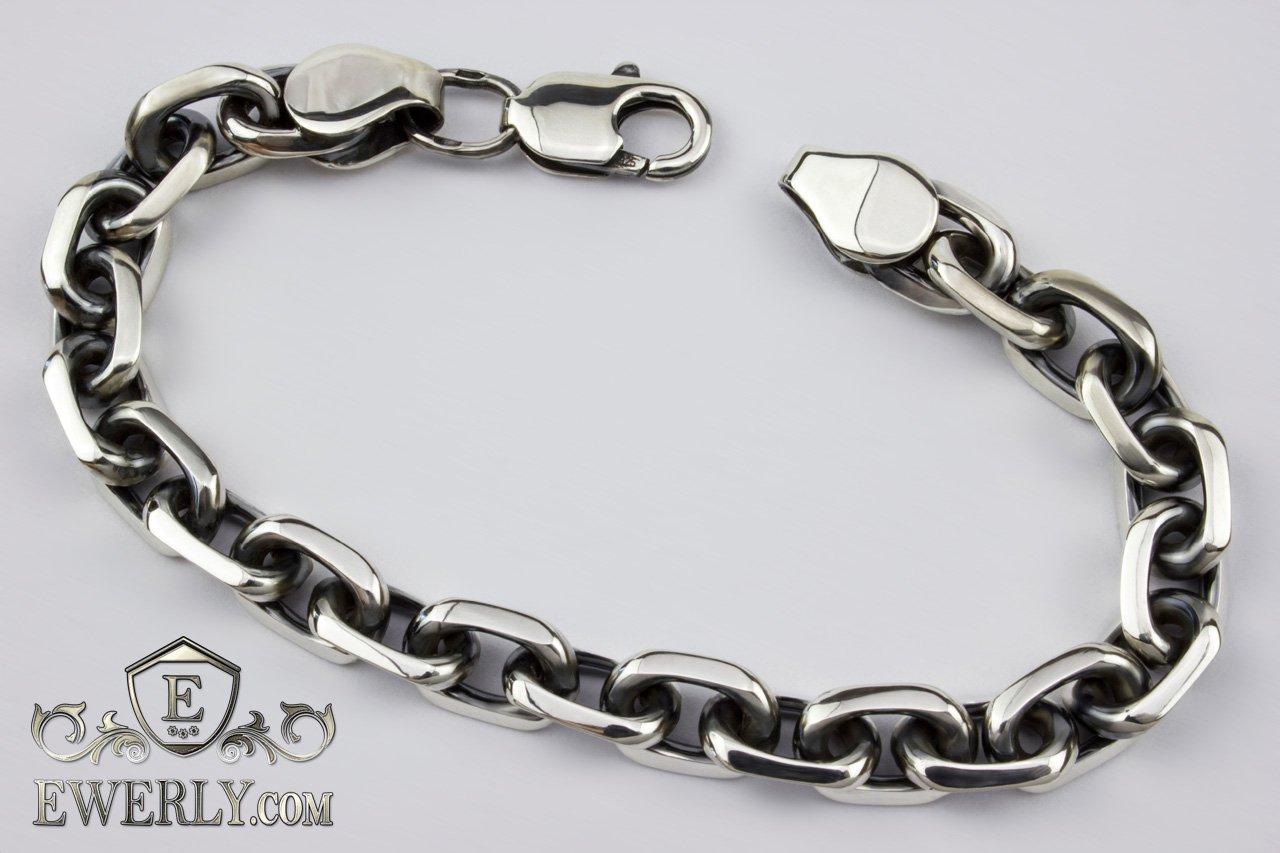 275196890909 Купить браслет якорного плетения, мужские серебряные браслеты Якорь ...