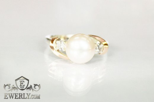 Women's ring of sterling silver with stones to buy 0035ZD