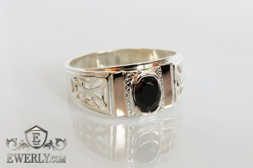 Men's ring of sterling silver with stones to buy 1009CH