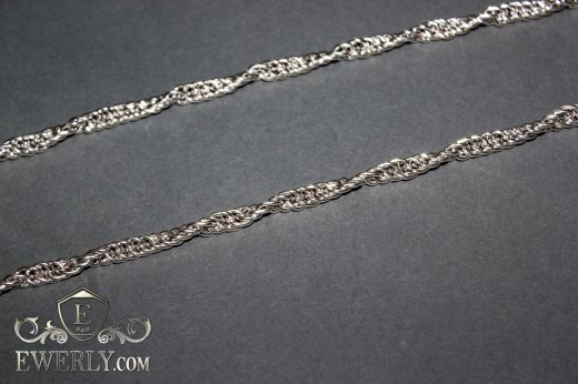 "Chain ""Cordovoye"" of sterling silver to buy 111018BQ"