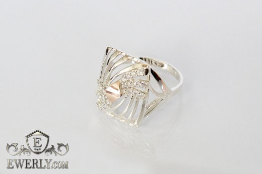 Ring of sterling silver with stones for women to buy 0029TU