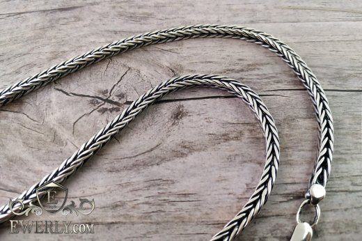 "Chain ""Spica"" of sterling silver for men to buy 111017UH"