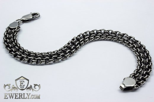 "Bracelet ""Double bismarck"" of sterling silver to buy 121033MD"