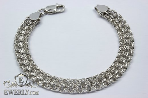 "Bracelet ""Double bismarck"" of sterling silver to buy 121033XH"