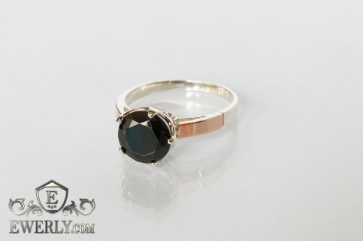 Ring of sterling silver with stones for women to buy 0033JR