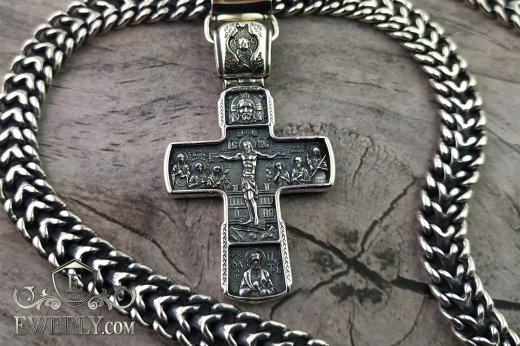 Big cross of sterling silver for men to buy 08179QQ