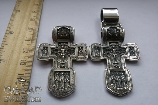 Big cross of sterling silver for men to buy 08596DR
