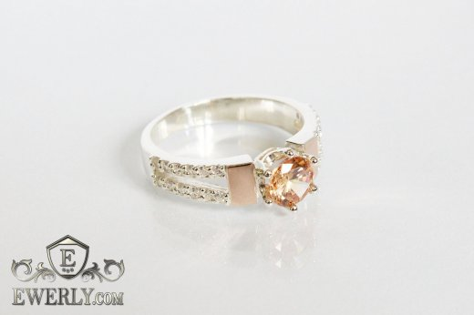 Ring of  silver with stones for women to buy 0010WL