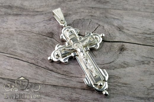 Big cross of sterling silver for men to buy 131009KT