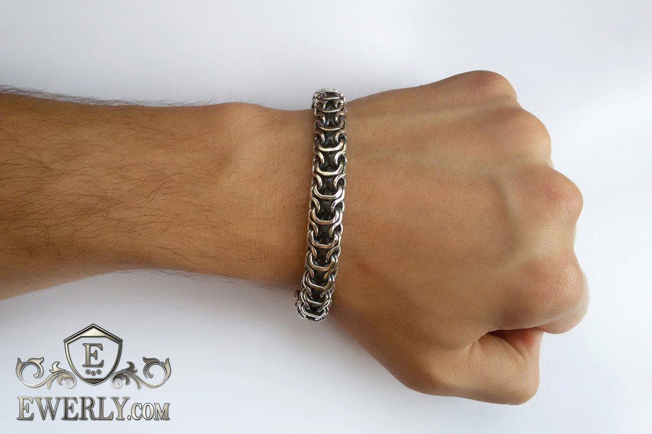 Серебряный браслет одесса мужской